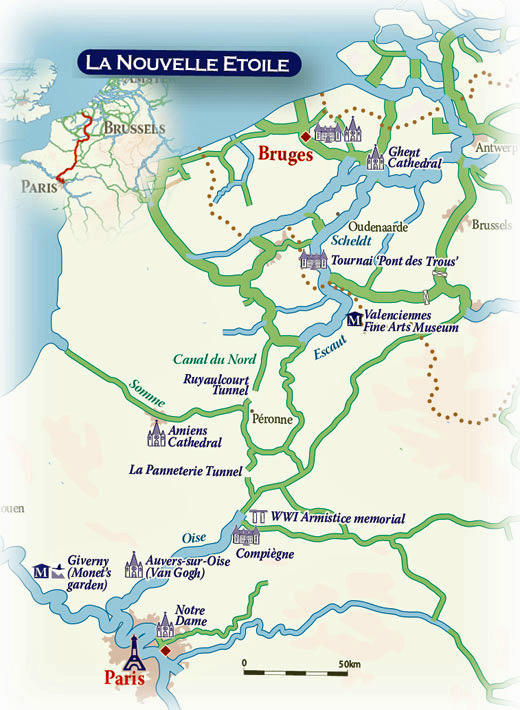 Map Of France And Holland Belgium.Hotel Barge La Nouvelle Etoile Belgium France Wheelchair